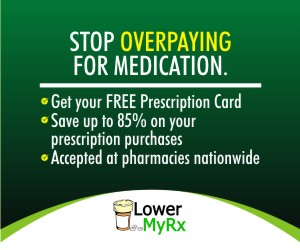 UP TO 85% SAVINGS ON PRESCRIPTIONS